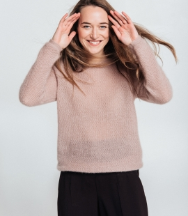 Classic mohair and silk blend sweater