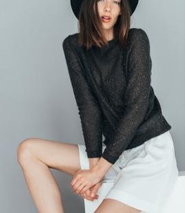 Elegant mohair festive sweater