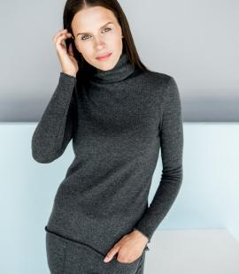 Kašmira džemperis ar augstu apkakli
