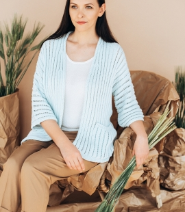 Silk and cotton cardigan with pockets