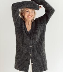 Alpaca wool cardigan