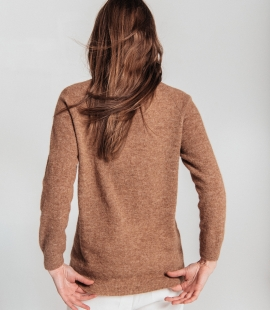 Alpaca wool crew neck sweater
