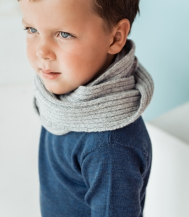 Kids lambs wool circle scarf