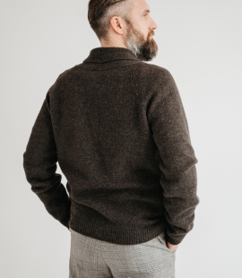 Lambswool cardigan with pockets