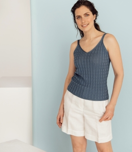 Silk / cotton cable pattern  top