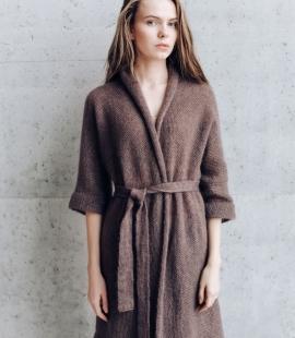 Long kid mohair silk kimono jacket