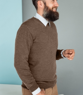 Merino vilnas vīriešu džemperis