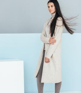 Long merino blend coat