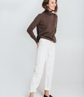 Oversized cashmere and merino blend turtleneck sweater