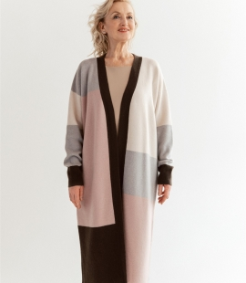 Cashmere / wool colourful cardigan
