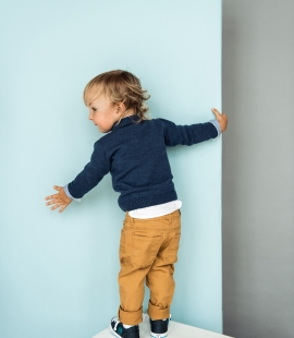 Kids merino wool cardigan with pockets