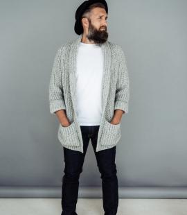 Chunky merino cardigan with pockets
