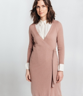 Cashmere and Merino blend Wrap dress