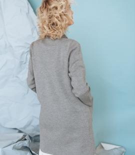 Merino wool mid length cardigan with pockets