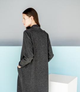 Gara klasiska kašmira vilnas sajaukuma jaka ar kabatām