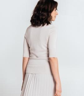 Merino wool V-neck top