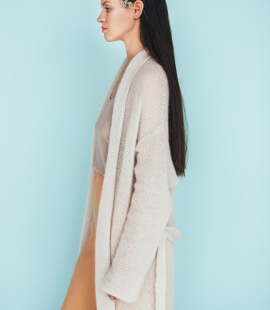 Long mohair coat