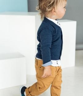 Merino vilnas bērnu jaciņa ar kabatām