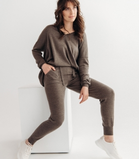 Merino trousers with pockets