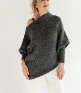 Alpaca asymmetric sweater