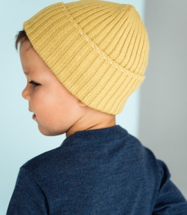 Kids lambs wool hat