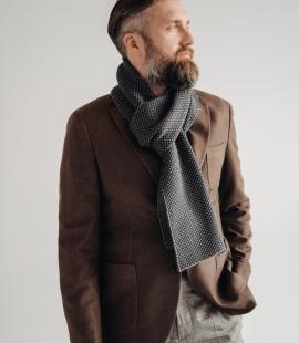 Pure merino plain knitting shawl, Pattern 3