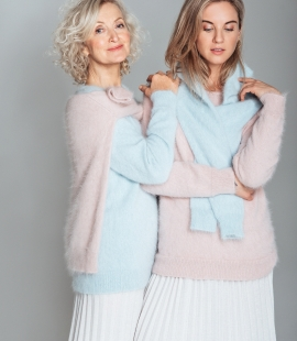 Classic angora wool sweater