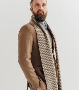 Pure merino plain knitting shawl, Pattern 2