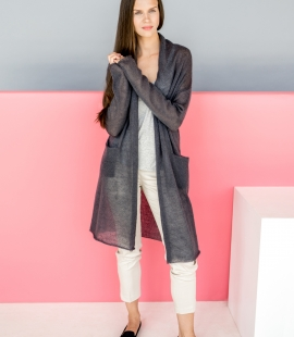 Long Mohair Cardigan with pockets