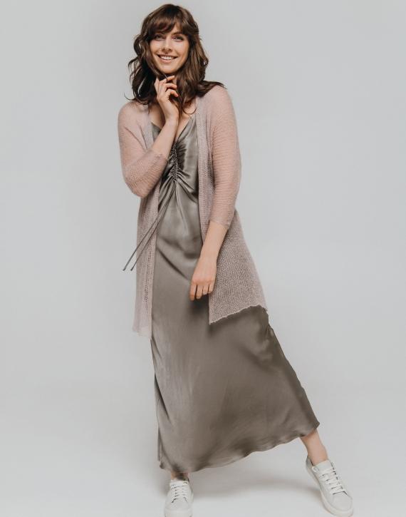 Silk and mohair blend kimono cardigan