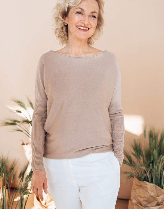 Cashmere, wool and silk blend sweater