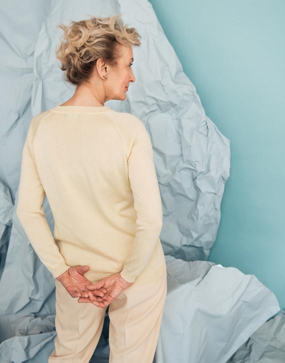Džemperis no zīda ar kokvilnu