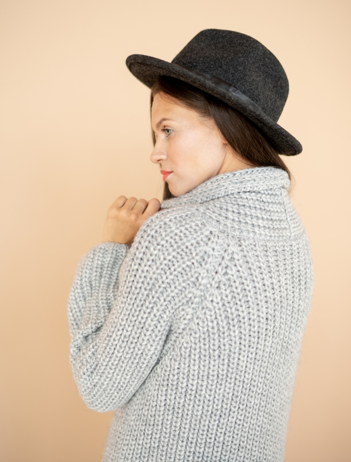 Chunky merino cardigan with pockets. Photo Nr. 4
