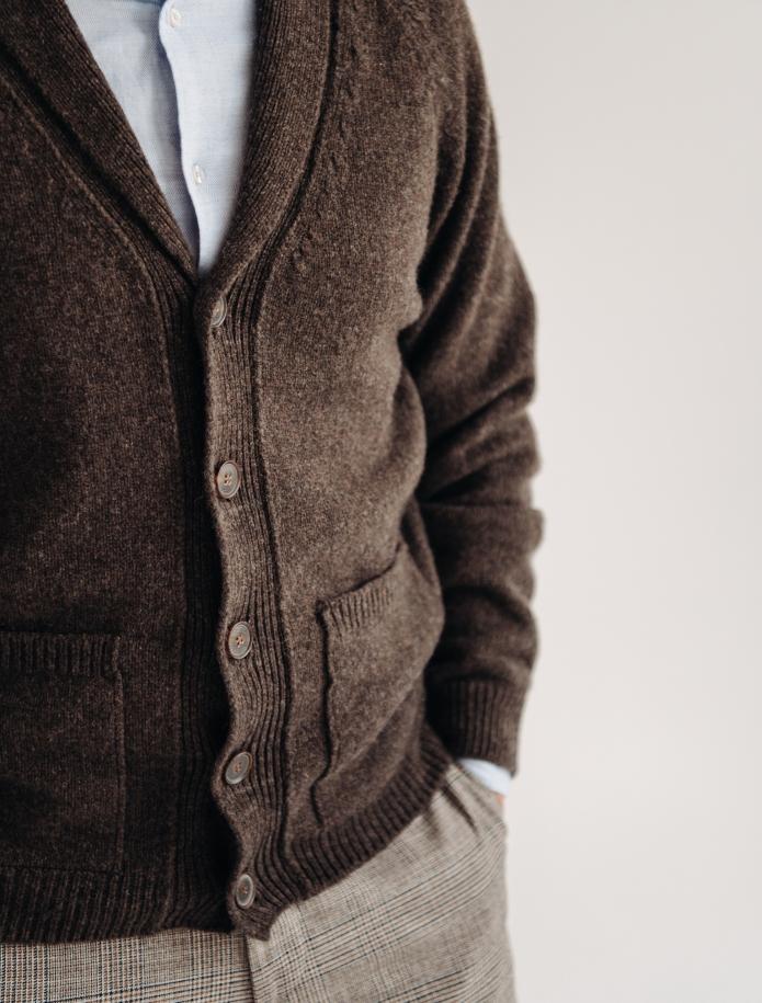Jēra vilnas šalkrāgas jaka ar kabatām. Attēls Nr. 3