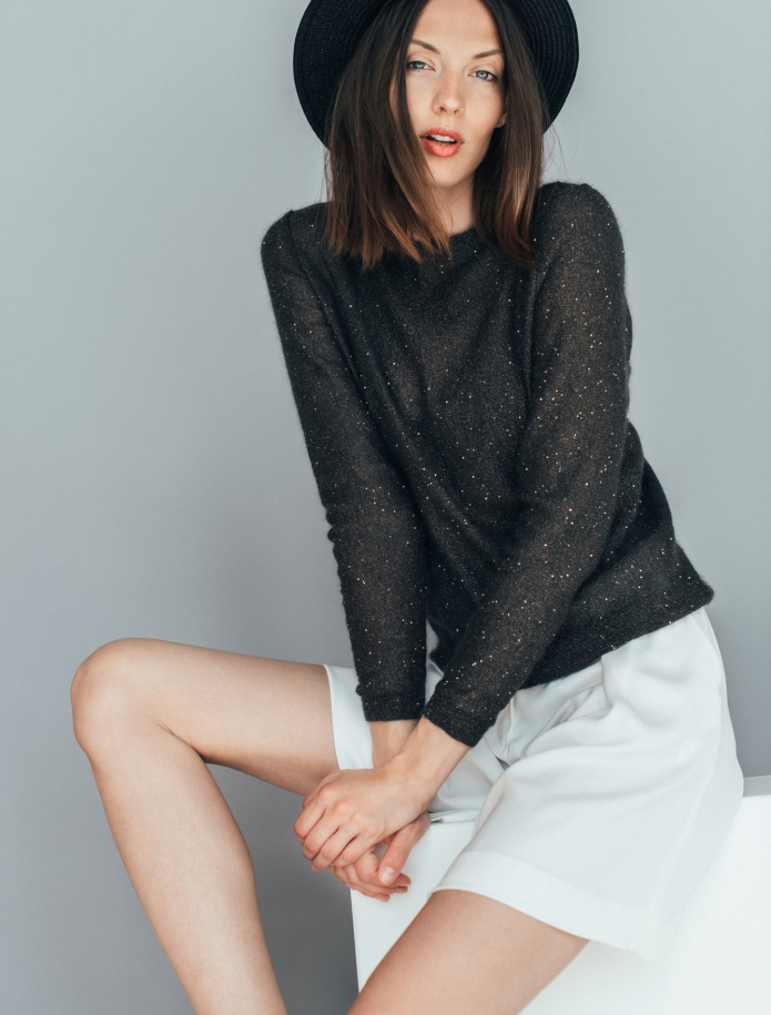 Elegant mohair festive sweater. Photo Nr. 2