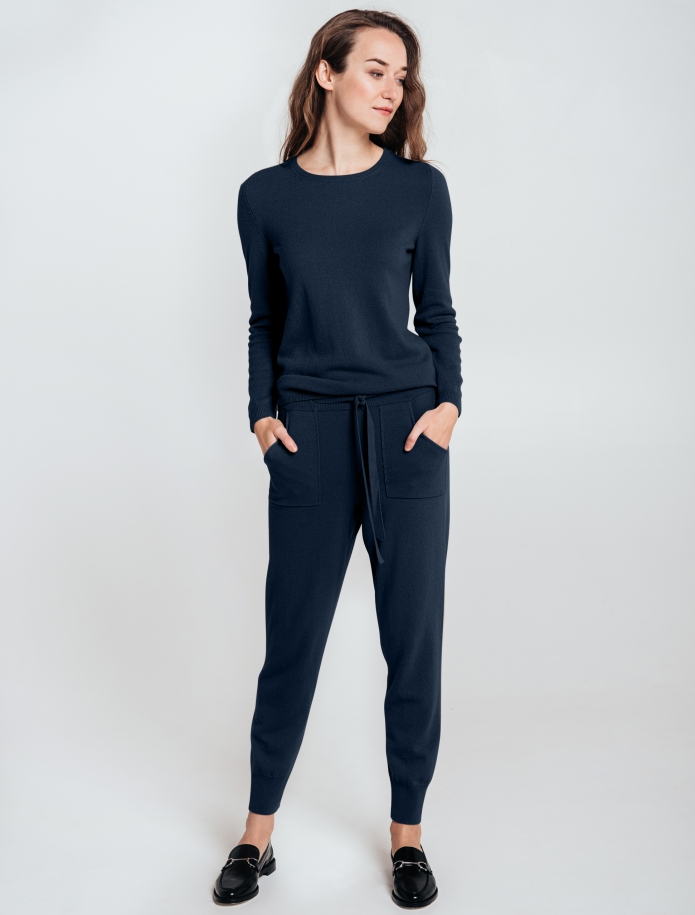 Merino and cashmere blend trousers with pockets. Photo Nr. 6