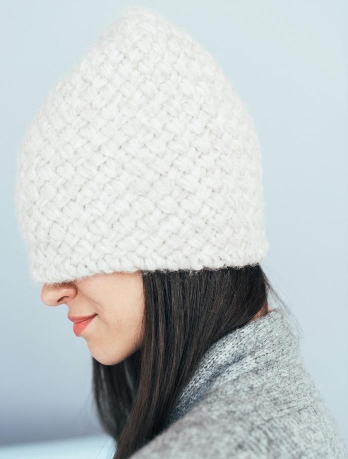 Alpaca wool basket hat. Photo Nr. 3