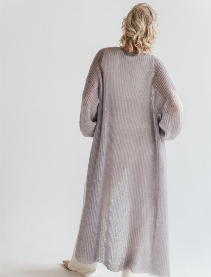 Long mohair / silk cardigan. Photo Nr. 11