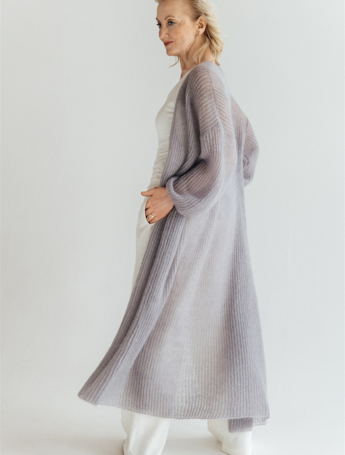Long mohair / silk cardigan. Photo Nr. 10