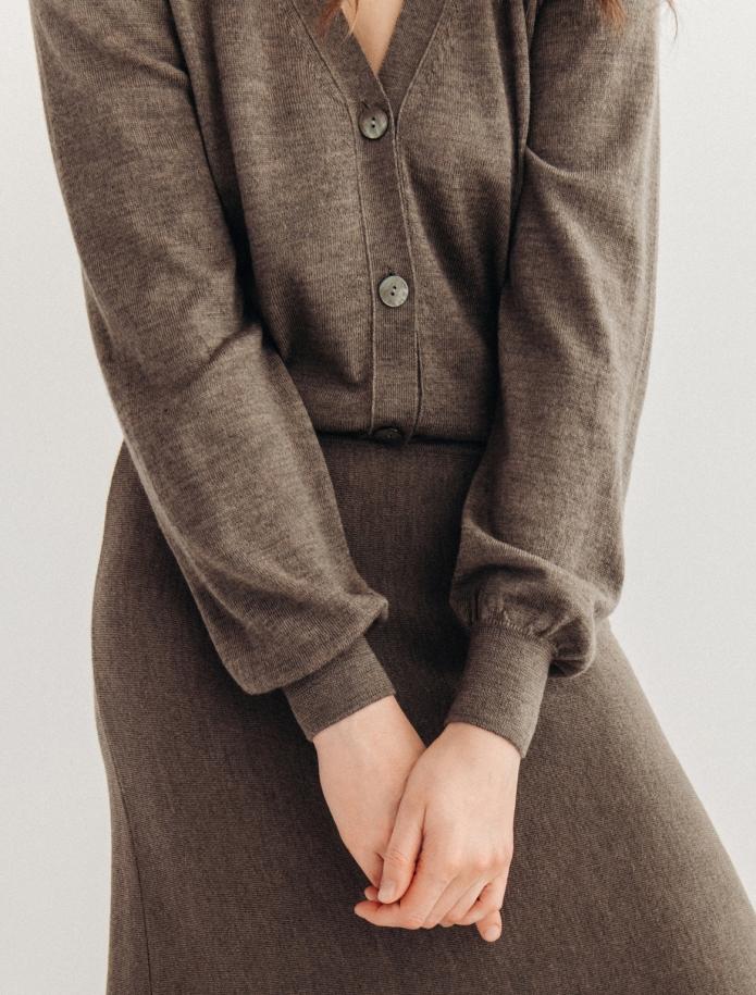 Īsa merīno vilnas klasiska jaka. Attēls Nr. 5