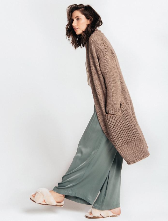 Chunky alpaca coat with pockets. Photo Nr. 3