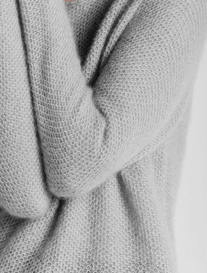 Classic mohair and silk blend sweater. Photo Nr. 6