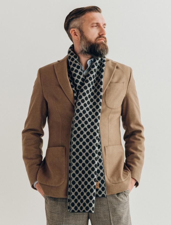 Pure merino plain knitting shawl, Pattern 1. Photo Nr. 1