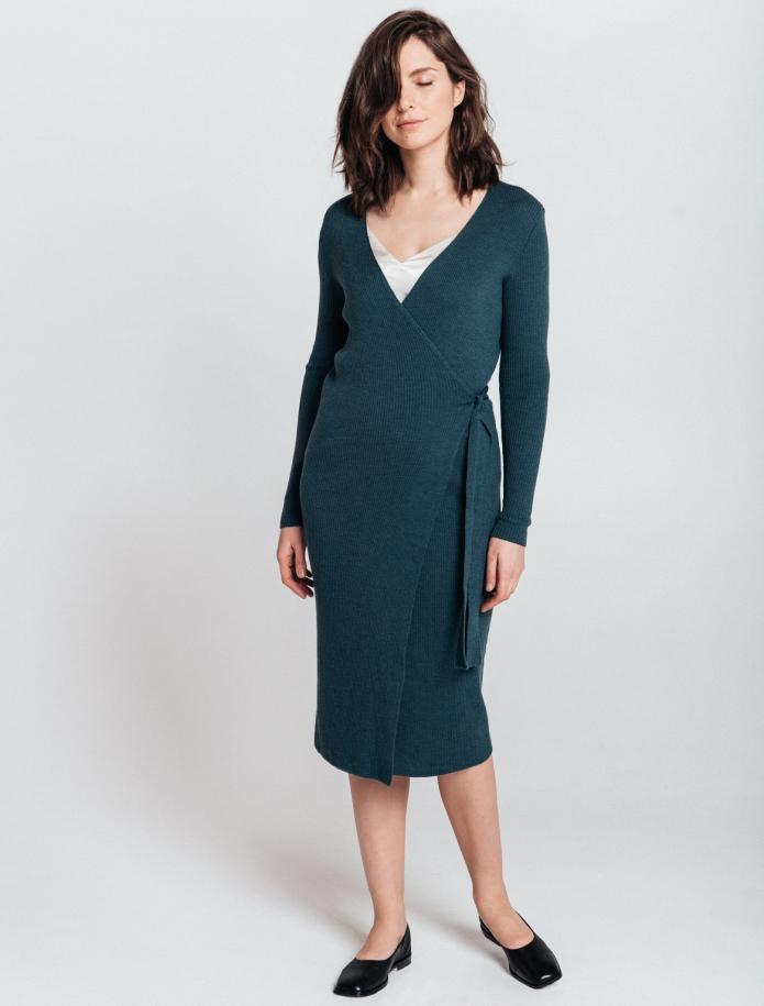 Merino wool Wrap dress. Photo Nr. 2