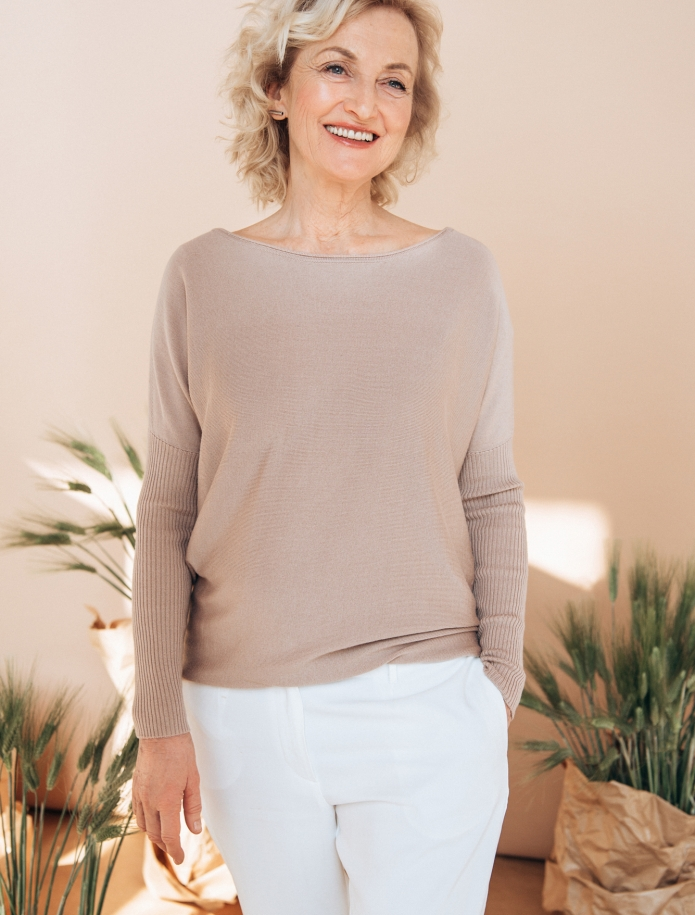 Cashmere, wool and silk blend sweater. Photo Nr. 2