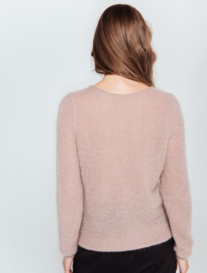 Klasisks moheras un zīda apvienojuma džemperis. Attēls Nr. 3