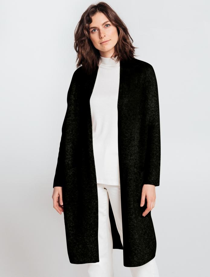 Merino wool mid length cardigan with pockets. Photo Nr. 5