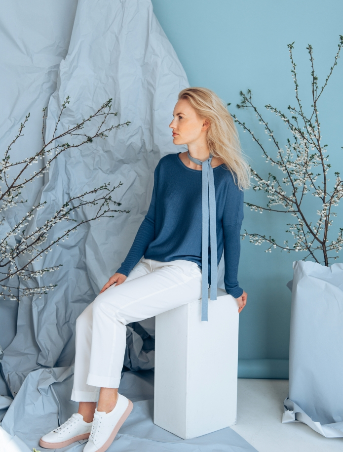 Cashmere, wool and silk blend sweater. Photo Nr. 4