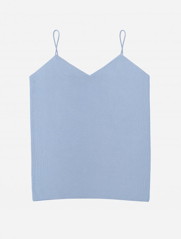 Silk/cotton sleeveless top. Photo Nr. 4