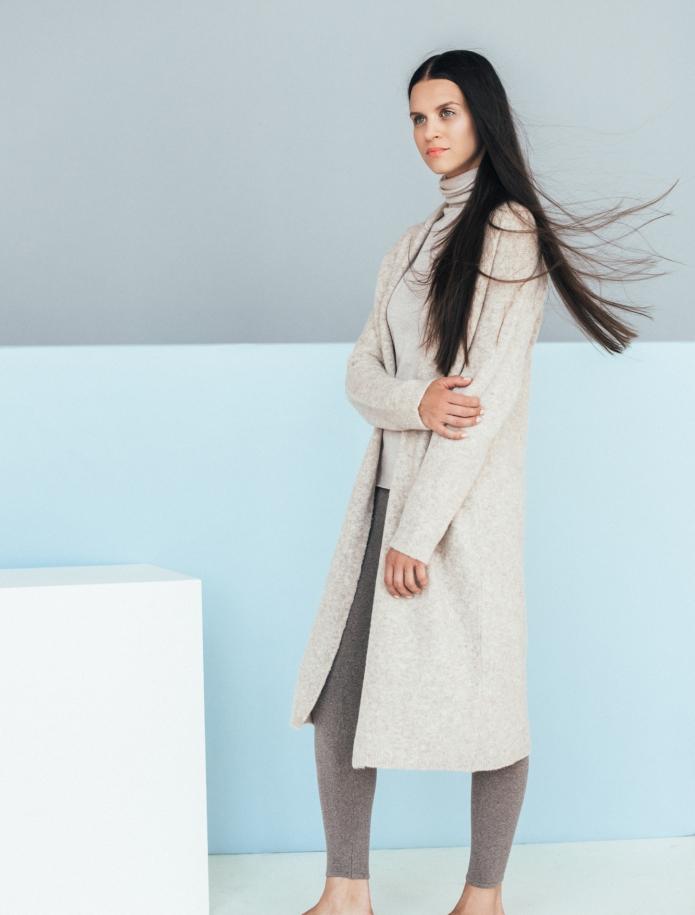Long merino blend coat. Photo Nr. 4